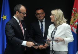 Ј. Јоксимовић и Сем Фабрици потписују споразум о ИПАРД фондовима