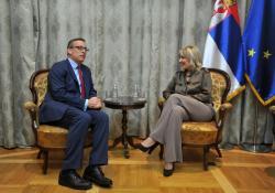 Ј. Јоксимовић са делегацијом ЕБРД