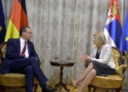 Састанак министра за европске интеграције Јадранке Јоксимовић са Гинтером Кирхбаумом