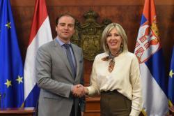 Ј. Јоксимовић са делегацијом Одбора за европске послове Парламента Холандије