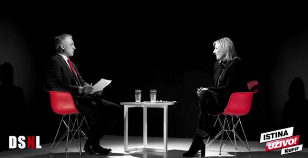 """Гостовање министра за европске интеграције Ј. Јоксимовић у емисији """"Да се не лажемо"""", ТВ Курир"""