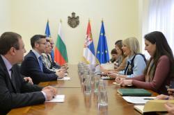 Јадранка Јоксимовић на састанку са делегацијом Одбора Скупштине Бугарске за европске послове и контролу европских фондова
