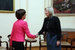 Министар за европске интеграције Јадранка Јоксимовић и амбасадорка Републике Чешке Ивана Хлавсова