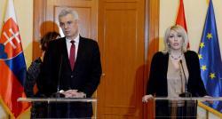 Министар за европске интеграције Јадранка Јоксимовић и в.д. министра спољних и европских послова Словачке Иван Корчок