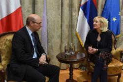 Јадранка Јоксимовић и Фредерик Мондолони