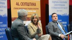 Министар за европске интеграције Јадранка Јоксимовић на на 46. седници скупштине СКГО