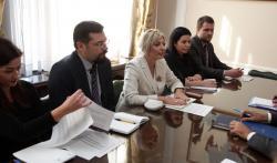 Министар Ј. Јоксимовић са члановима Делегације ЕУ у Србији