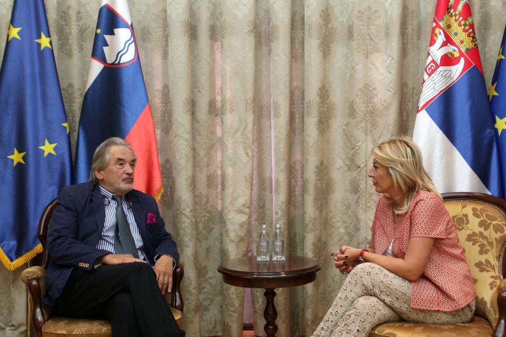 Ј. Јоксимовић и Гаспарич: Словенија наставља да подржава европски пут Србије