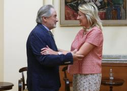 Министар Ј. Јоксимовић и њ.е. Гаспарич
