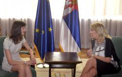 Министар Јадрнака Јоксимовић и комесар Марија Габријел